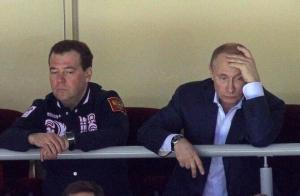 This is how President Putin look when Russia beat Slovakia. Imagine how look when lose.