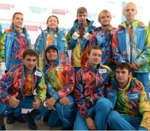 How you like volunteer uniform? Is bright, da? Source: Sochi Media Centre
