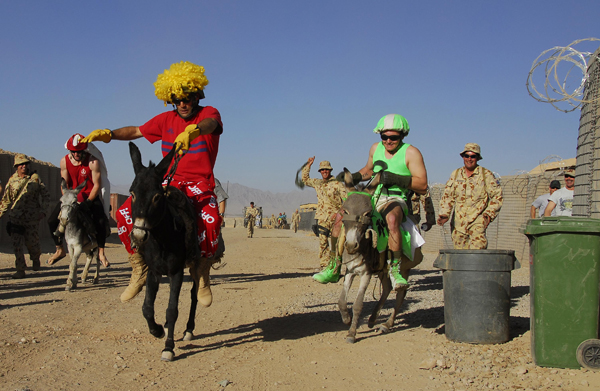 And they're off. 'Melbourne Cup' in Afghanistan.  Picture by Australian Defence Force