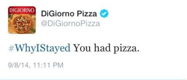 Why I stayed pizza