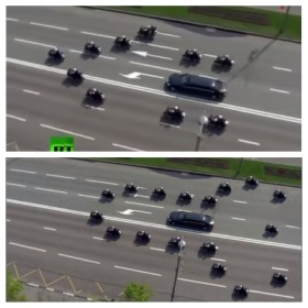 Putin motorcade