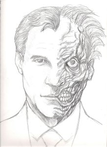 Harvey Two-Face.  Nice drawing, xboxrox27.