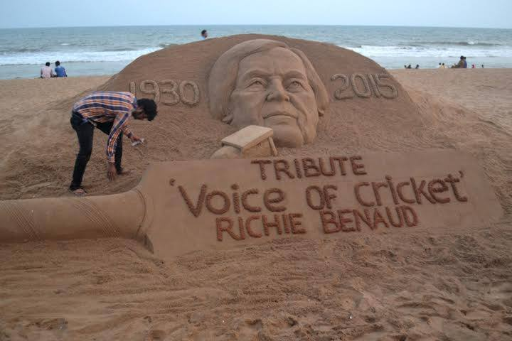 A tribute to Richie on an Indian beach.