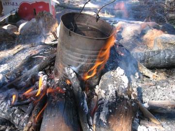 Billycan-campfire