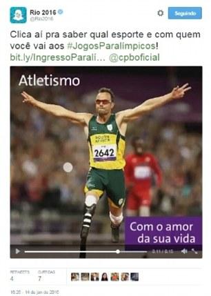 Pistorius tweet